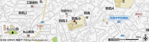 神奈川県藤沢市羽鳥周辺の地図
