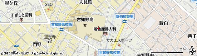 愛知県江南市古知野町(高瀬)周辺の地図