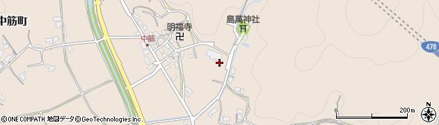 京都府綾部市中筋町(二ノ段)周辺の地図