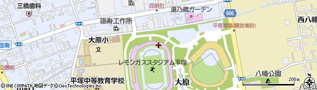 神奈川県平塚市大原周辺の地図