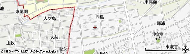 愛知県江南市松竹町(向島)周辺の地図