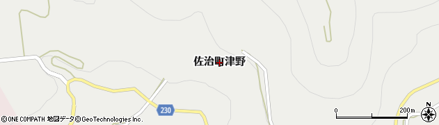 鳥取県鳥取市佐治町津野周辺の地図