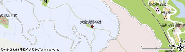 尾張冨士大宮浅間神社周辺の地図