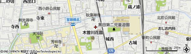 愛知県一宮市木曽川町黒田(宝光寺東)周辺の地図