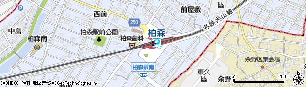 愛知県丹羽郡扶桑町周辺の地図