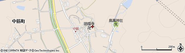 京都府綾部市中筋町(塚石)周辺の地図