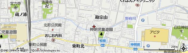 愛知県一宮市木曽川町黒田(三ツ股)周辺の地図