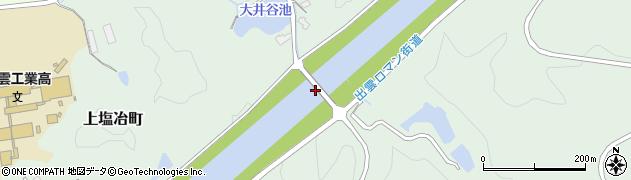 大井谷橋周辺の地図