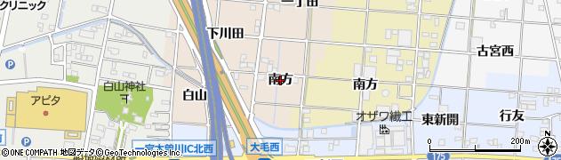 愛知県一宮市田所(南方)周辺の地図