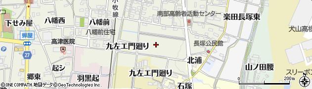 愛知県犬山市楽田長塚西周辺の地図