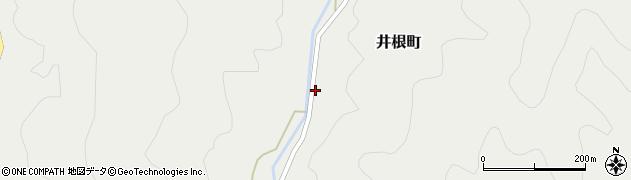 京都府綾部市井根町(中筋)周辺の地図