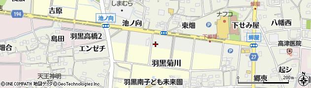 愛知県犬山市羽黒成海南周辺の地図
