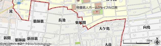 愛知県一宮市浅井町小日比野(東尾関)周辺の地図