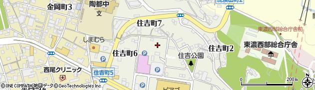 岐阜県多治見市住吉町周辺の地図