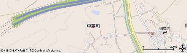 京都府綾部市中筋町周辺の地図