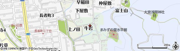愛知県犬山市牛岩周辺の地図