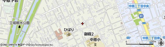 神奈川県平塚市御殿周辺の地図