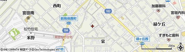愛知県江南市前飛保町(栄)周辺の地図