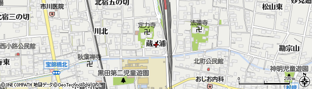 愛知県一宮市木曽川町黒田(蔵ノ浦)周辺の地図