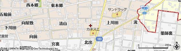 愛知県一宮市浅井町尾関(上り戸)周辺の地図