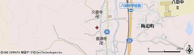 京都府綾部市梅迫町(円山)周辺の地図