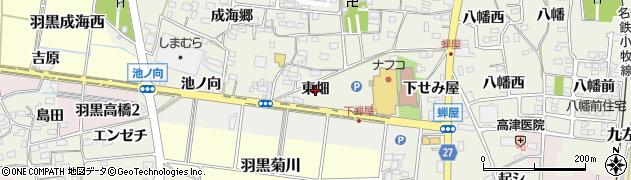 愛知県犬山市羽黒(東畑)周辺の地図