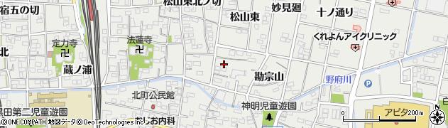 愛知県一宮市木曽川町黒田(松山東南ノ切)周辺の地図