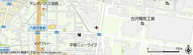 神奈川県平塚市東八幡周辺の地図