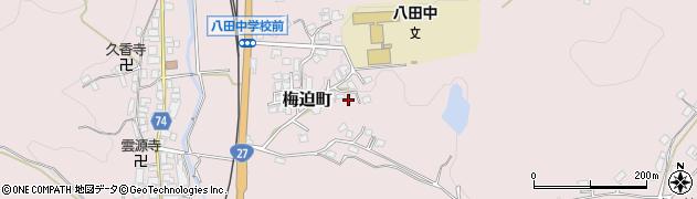 京都府綾部市梅迫町(五本柿)周辺の地図