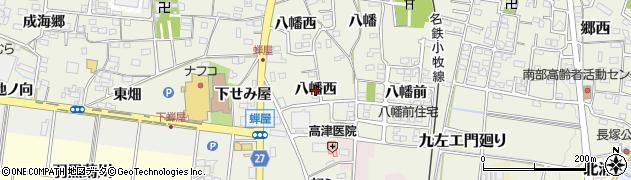 愛知県犬山市羽黒新田(八幡西)周辺の地図
