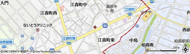 愛知県江南市江森町周辺の地図