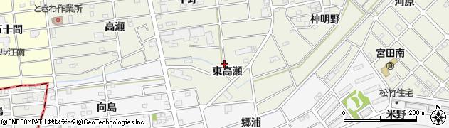 愛知県江南市後飛保町(東高瀬)周辺の地図