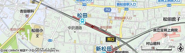 神奈川県足柄上郡松田町周辺の地図