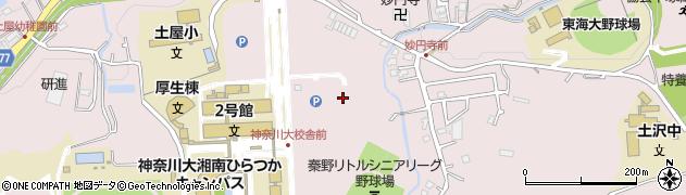 神奈川県平塚市土屋周辺の地図