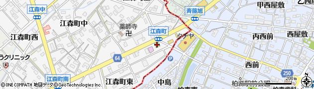 ブロンコビリー江南扶桑店周辺の地図