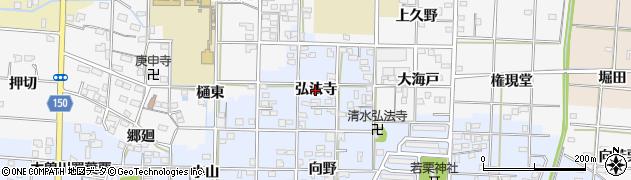 愛知県一宮市大毛(弘法寺)周辺の地図