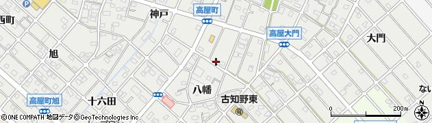 愛知県江南市高屋町(八幡)周辺の地図