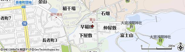 愛知県犬山市早稲田周辺の地図