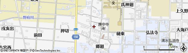 愛知県一宮市杉山(郷内)周辺の地図