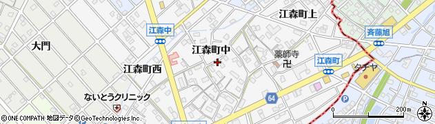 愛知県江南市江森町(中)周辺の地図