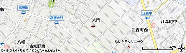 愛知県江南市高屋町(大門)周辺の地図