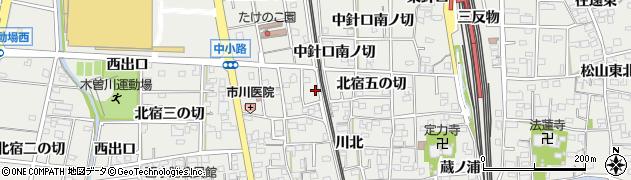 愛知県一宮市木曽川町黒田(東出口)周辺の地図