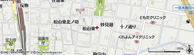 愛知県一宮市木曽川町黒田(妙見西)周辺の地図