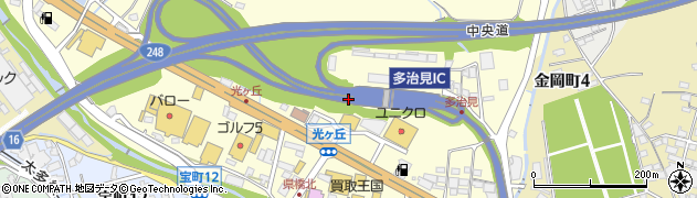 岐阜県多治見市光ケ丘周辺の地図