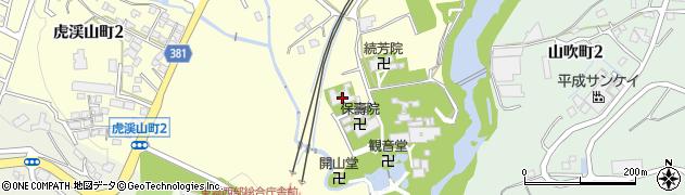 徳林院周辺の地図