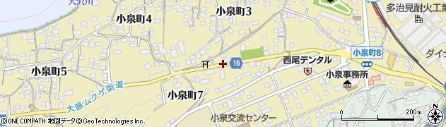 岐阜県多治見市小泉町周辺の地図
