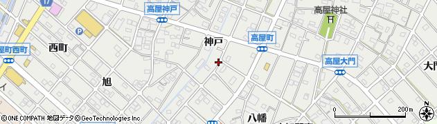 愛知県江南市高屋町(神戸)周辺の地図
