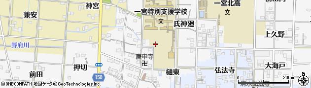 愛知県一宮市杉山周辺の地図