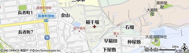 愛知県犬山市稲干場周辺の地図