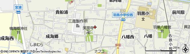 愛知県犬山市羽黒(寺浦)周辺の地図